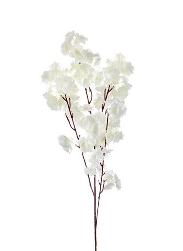 The Mia Yapay Çiçek Bahar Dalı Beyaz Beyaz